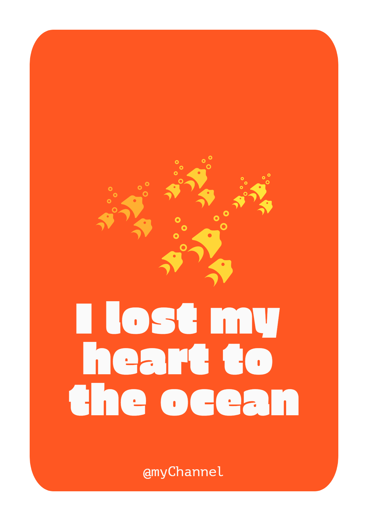 #ocean #poster #quote #simple Design  Template