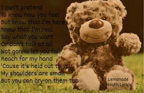 #lyrics #lemonademouth #morethanaband #here #cry #lonely #ok #quote