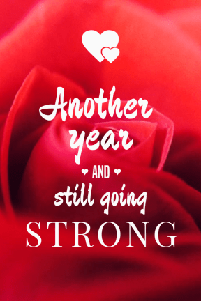 Going strong #anniversary #heart #rose #love