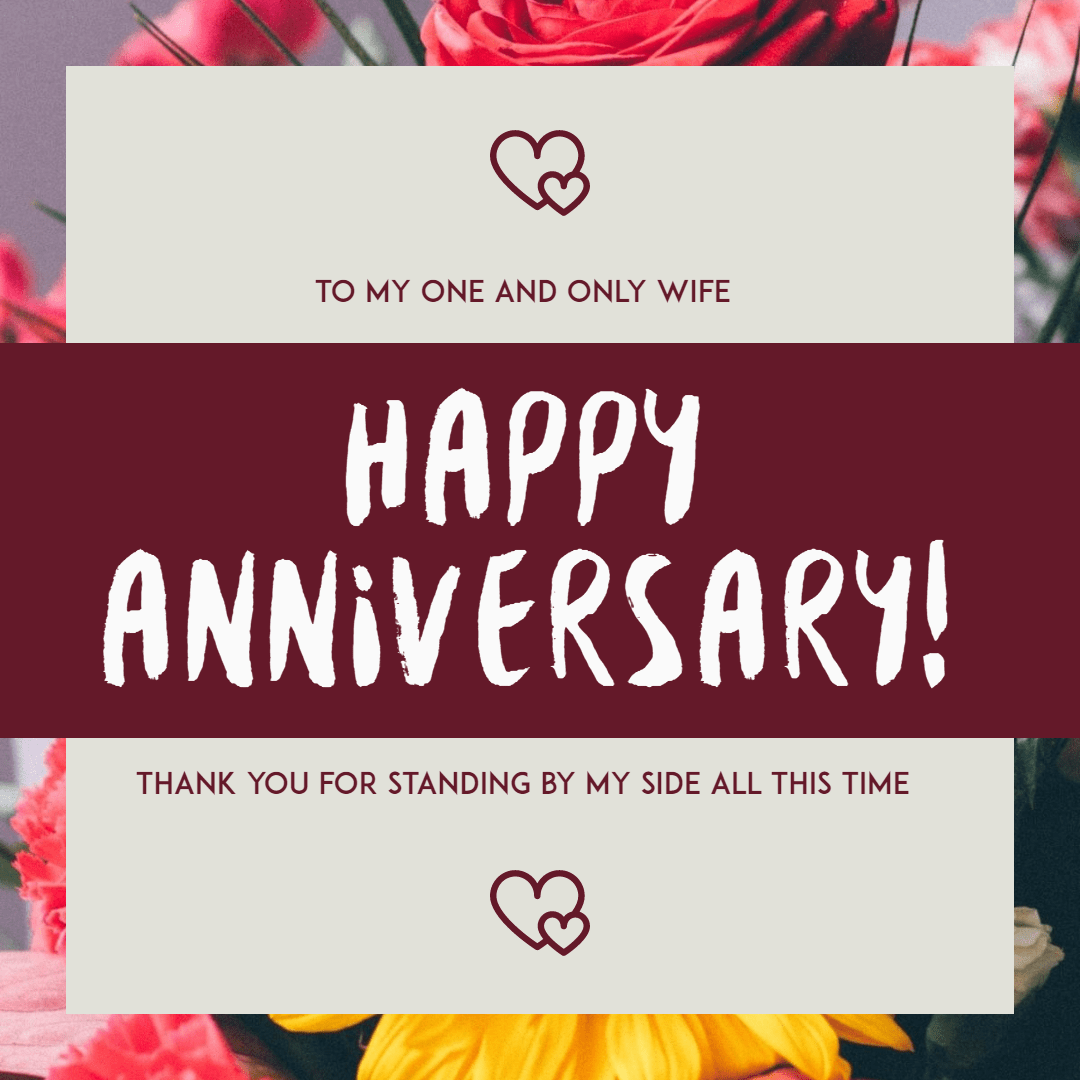 Happy anniversary #anniversary #wife Design  Template