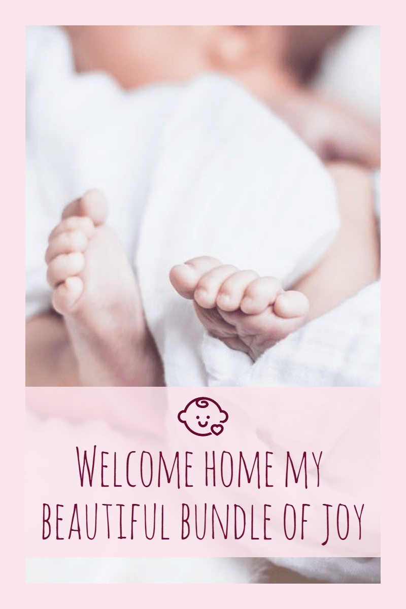 Welcome home baby #newborn Design  Template