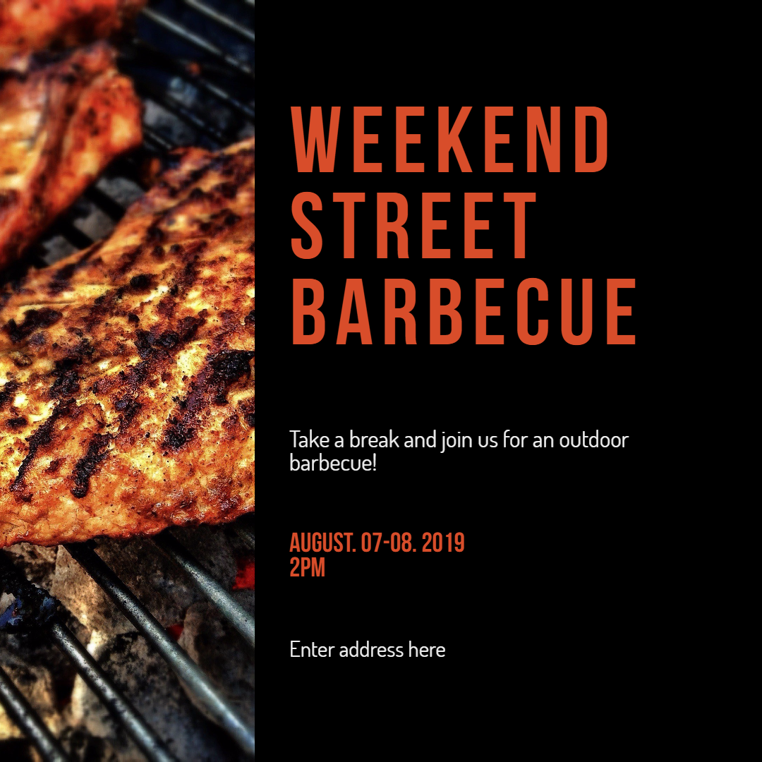 street barbecue invitation image customize download it for free