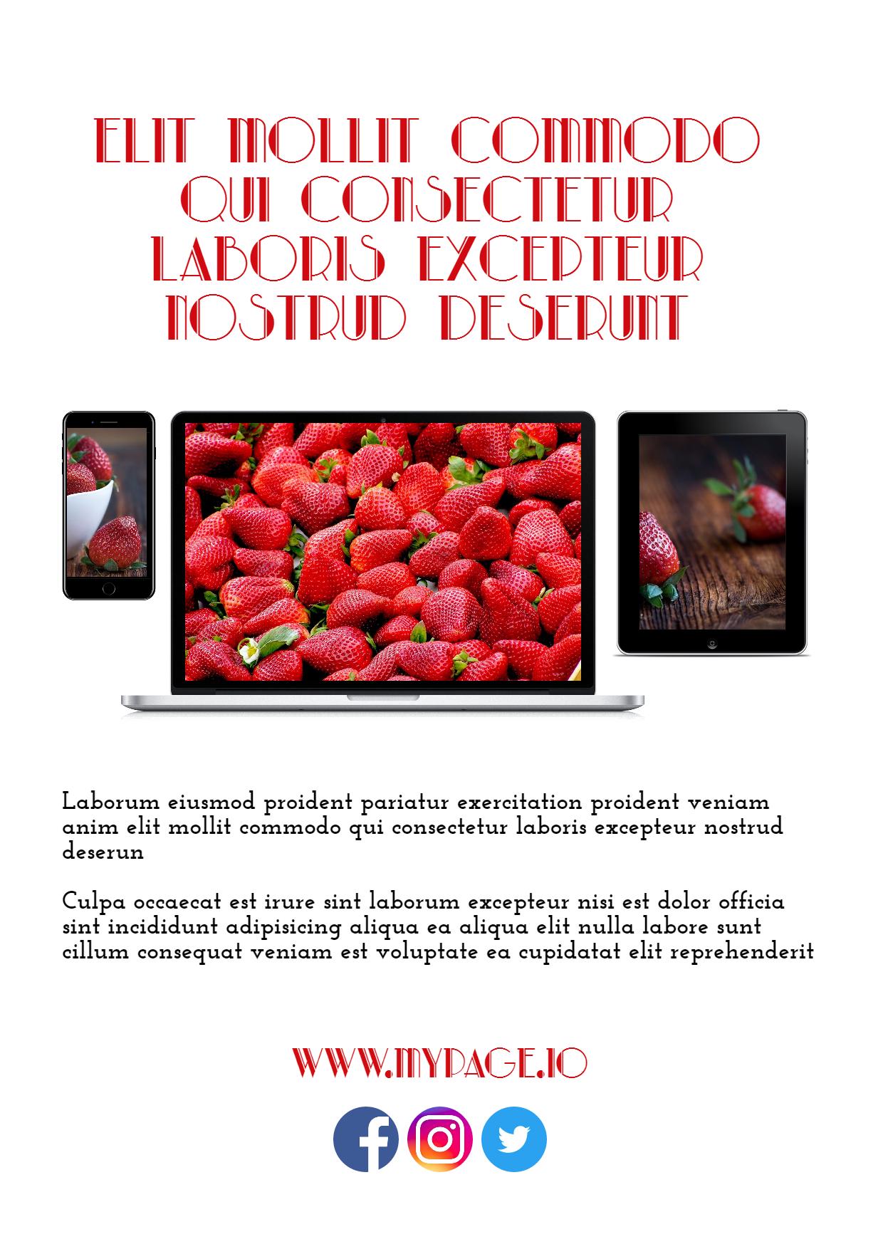 #collage #business #mockup - ipad, Design  Template