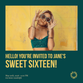 Sweet sixteen #anniversary #invitation #sweetsixteen