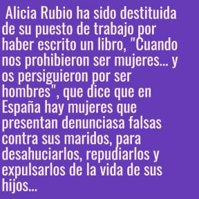Alicia  Rubio ha sido destituida...