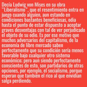 Envidia, base del socialismo