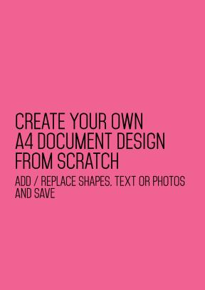 A4 document blank