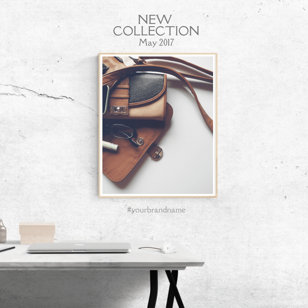 #simple #anouncement #mockup #frame Design  Template