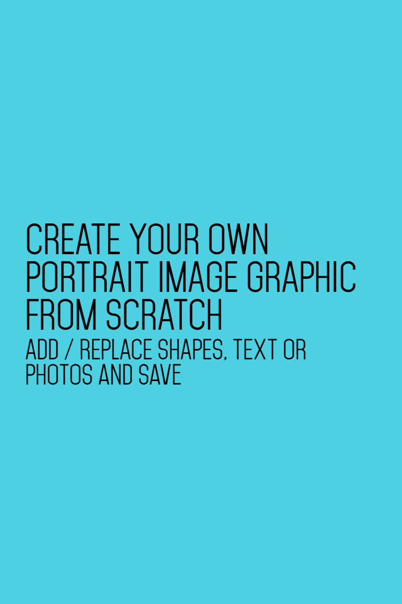 Portrait pinterest image blank Design  Template