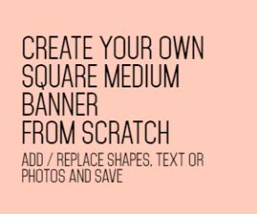 Square medium banner blank