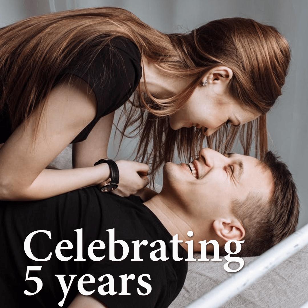 Celebrating 5 years #anniversary Design  Template