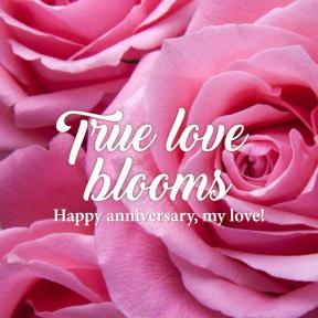 True love blooms #anniversary #love