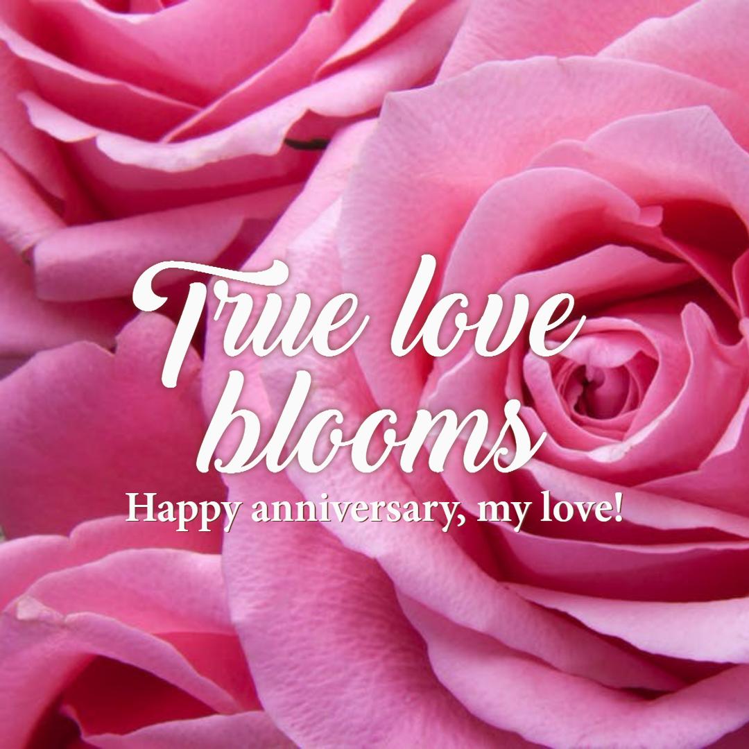 True love blooms #anniversary #love  Design  Template