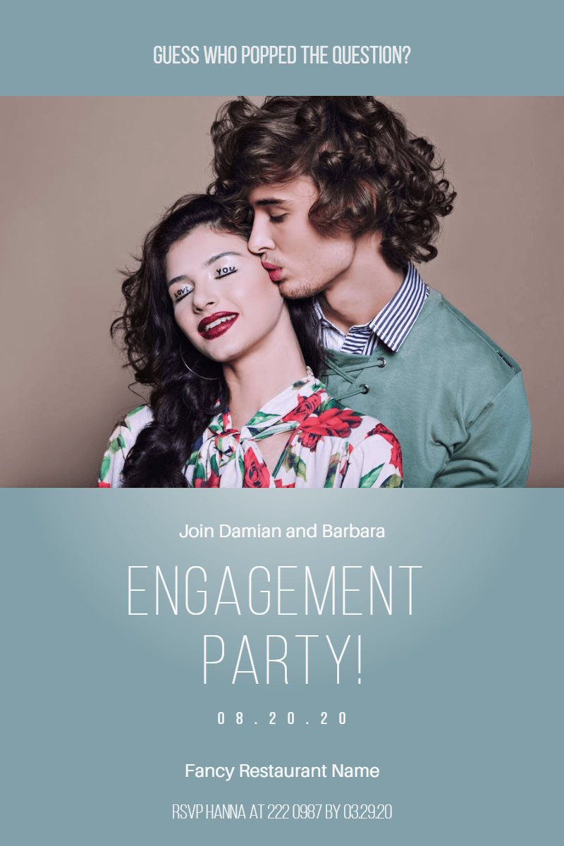 Engagement party #party #invitation Design  Template