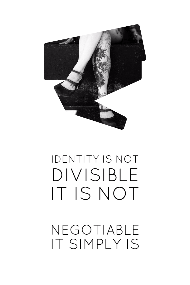 IDENTITY unique #poster #quote Design  Template
