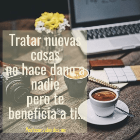 #poster #banner #cafe #nuevo #empezar #simple #design #coffee #inspirational #quote