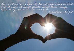 1 Corinthians 13:4,6-7