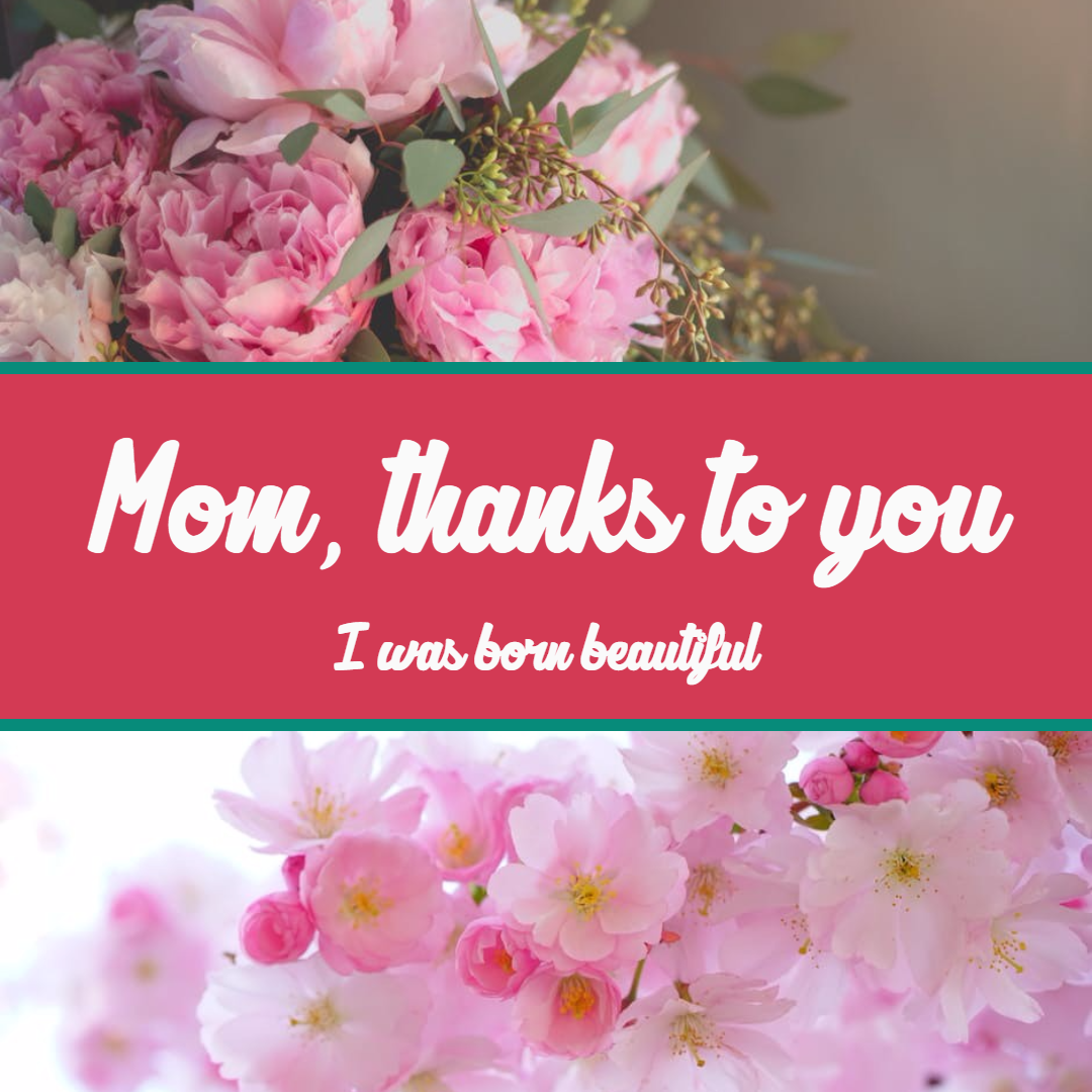 Thanks to you #anniversary #mother Design  Template