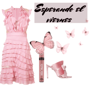 #pink #set #viernes #esperar #rosa #mariposas