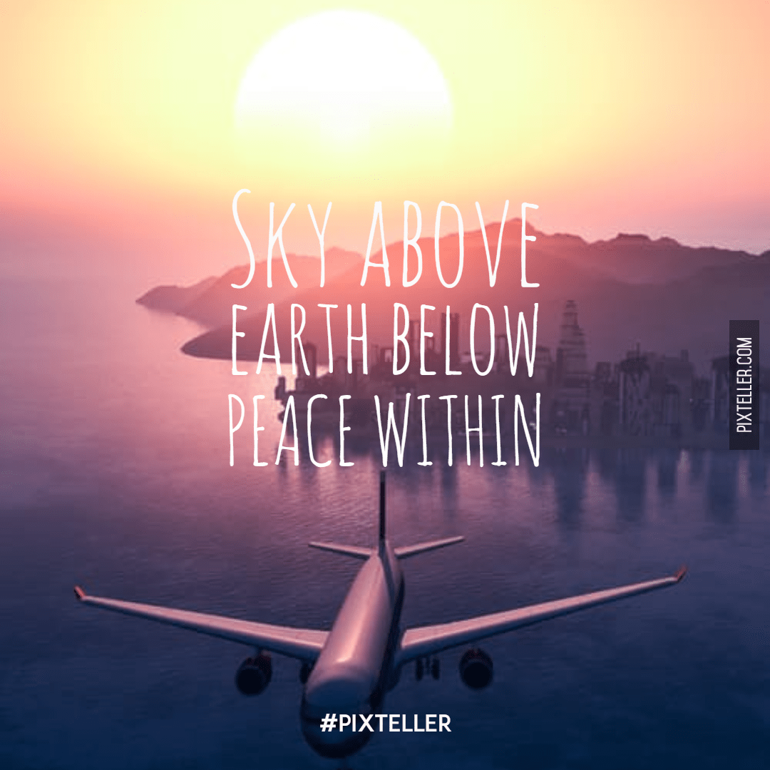 Air,                Travel,                Atmosphere,                Of,                Earth,                Airplane,                Morning,                Sunrise,                Simple,                Poster,                Quote,                White,                Black,                 Free Image