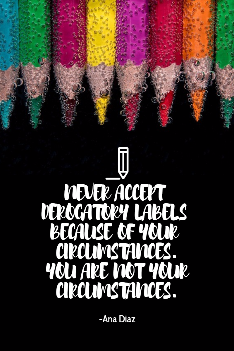 Don't Accept Labels #poster Design  Template