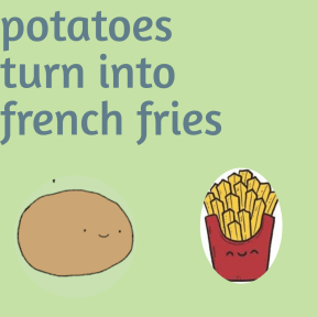potatoes turn into french fries