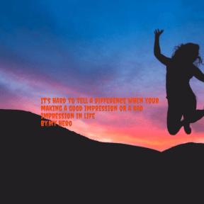 My hero quote