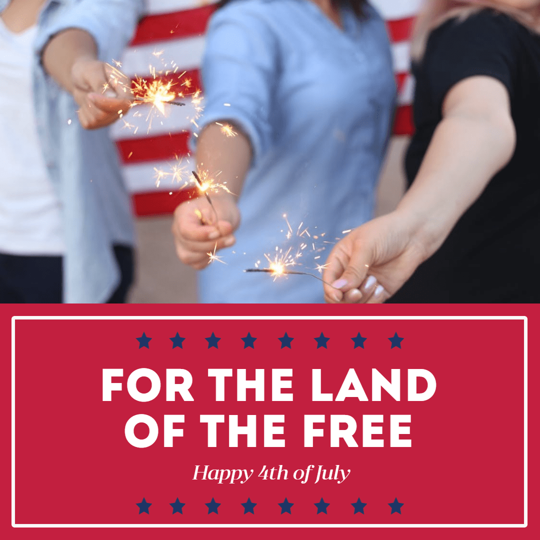 Happy 4th of July #anniversary Design  Template