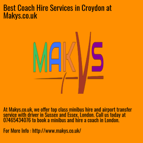 Best Coach Hire Services in Croydon at Makys.co.uk