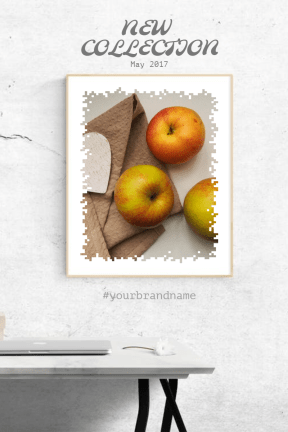 #simple #anouncement #mockup #frame