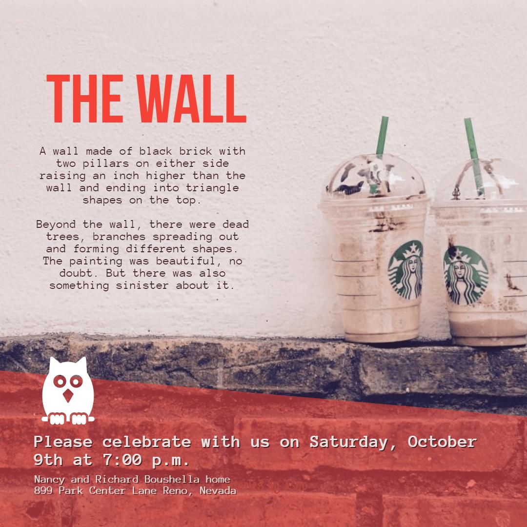 The Wall #invitation #anniversary Design  Template