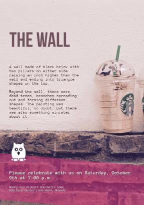 The Wall #invitation #anniversary #business