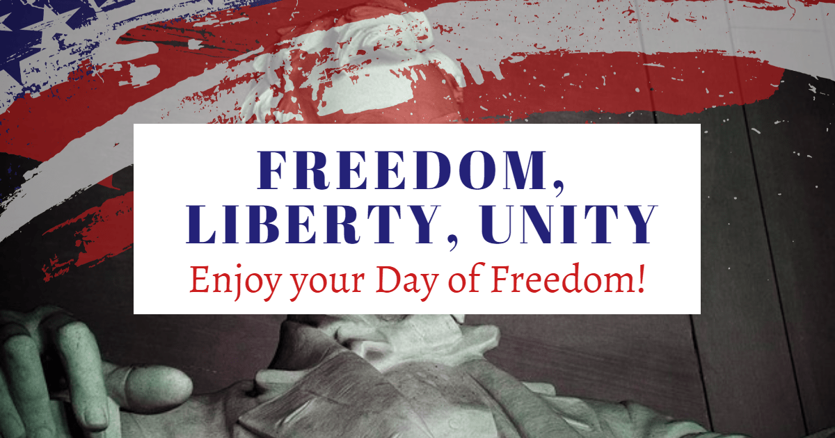 Enjoy your Day of Freedom! Design  Template