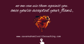 Accepting you flaws