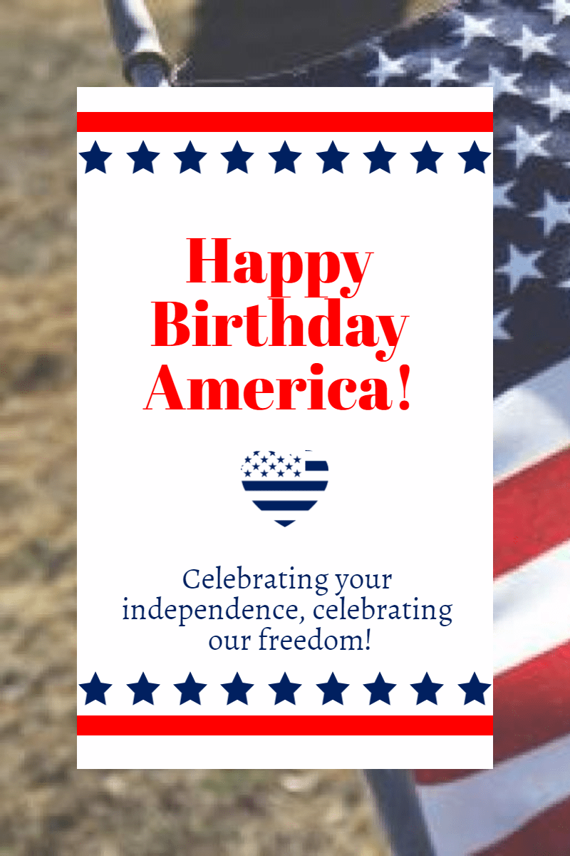 Happy birthday America #4thofjuly Design  Template