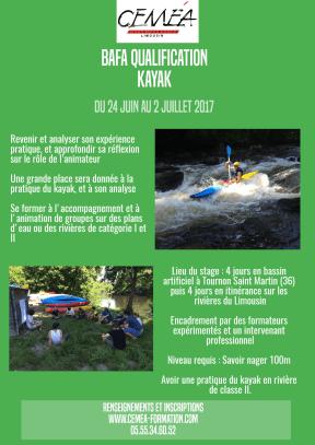 Affiche kayak