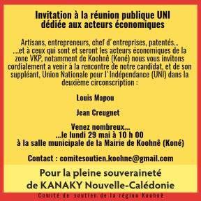 Invitation réunion UNI 29 mai