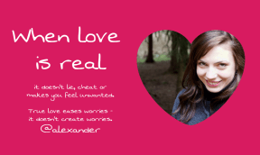 Love is real #love #valentine #pink #poster