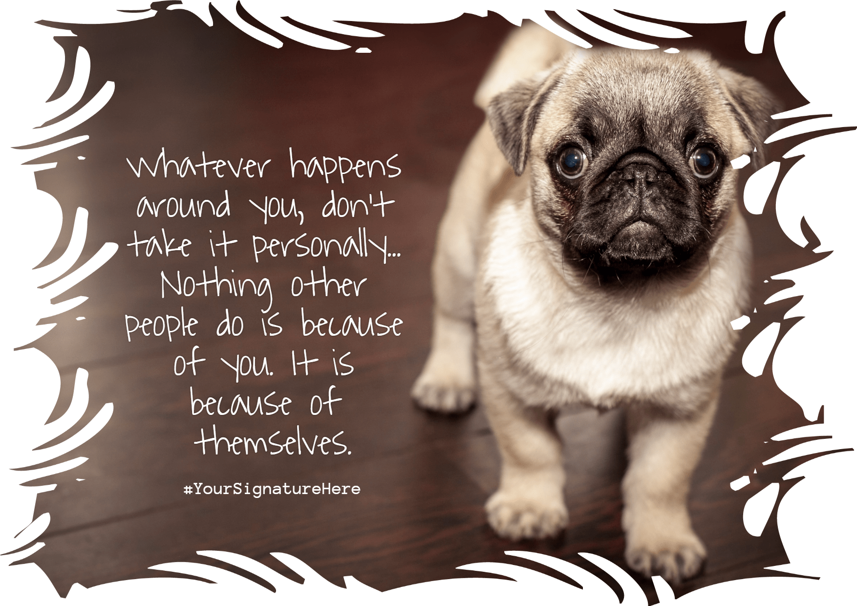 Dog,                Mammal,                Breed,                Pug,                Like,                Funny,                Quote,                Poster,                White,                Black,                 Free Image