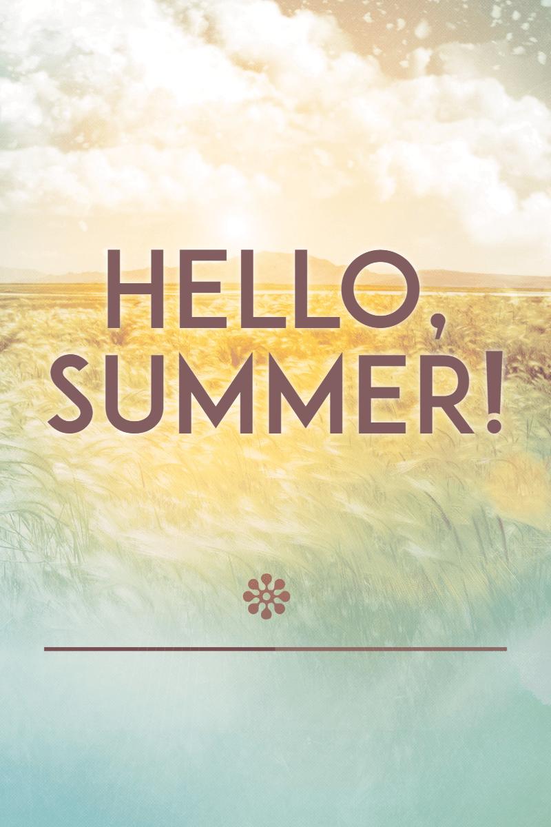 Hello summer #summer #waves #beach Design  Template