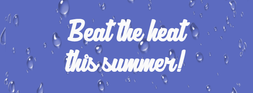 Beat the heat #summer #waves #beach Design  Template