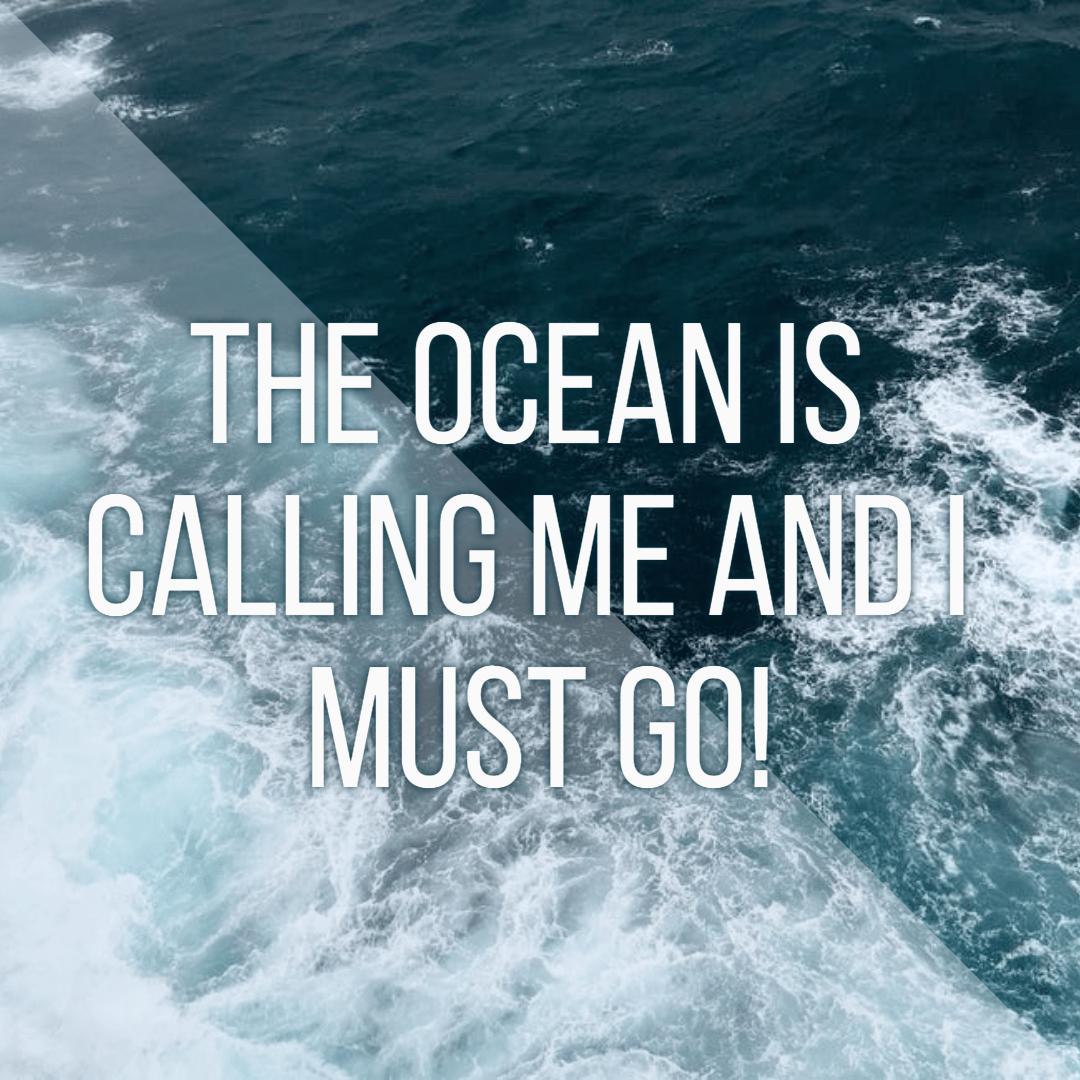 The ocean is calling #summer #ocean Design  Template