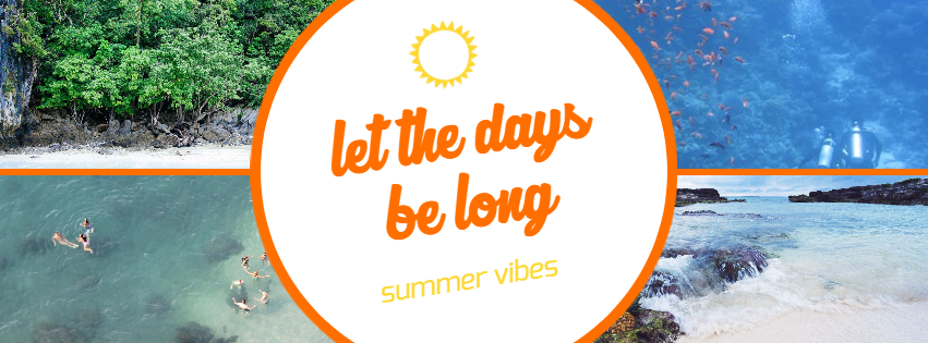 Let the days be long #summer #ocean Design  Template
