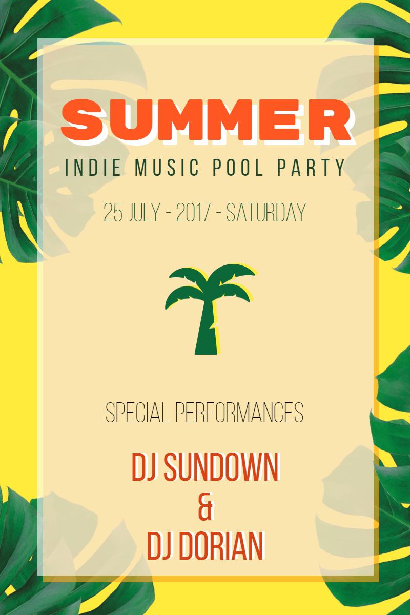 Summer Party  #invitation #summer Design  Template
