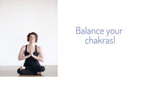 balance your chacras