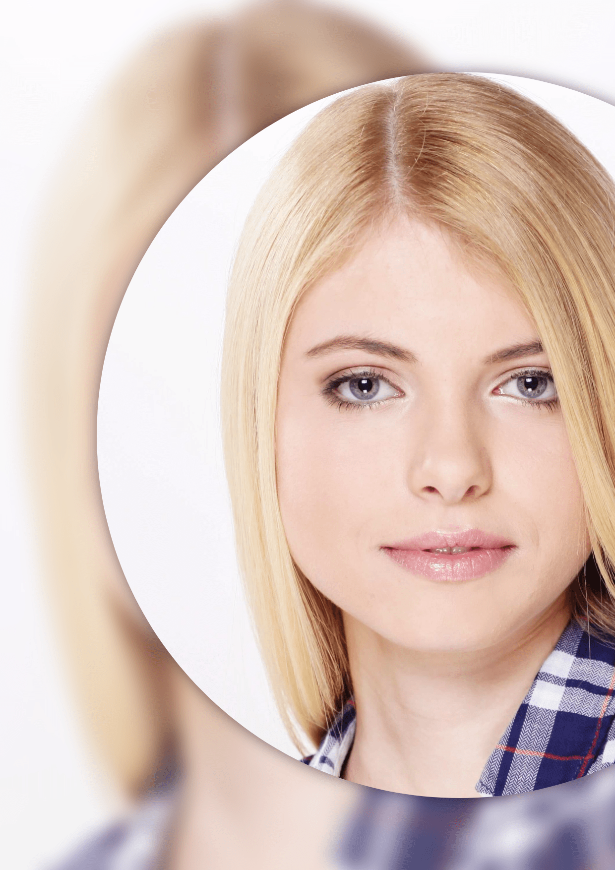 Hair,                Face,                Eyebrow,                Nose,                Blond,                Mockup,                Frame,                Image,                Avatar,                White,                 Free Image