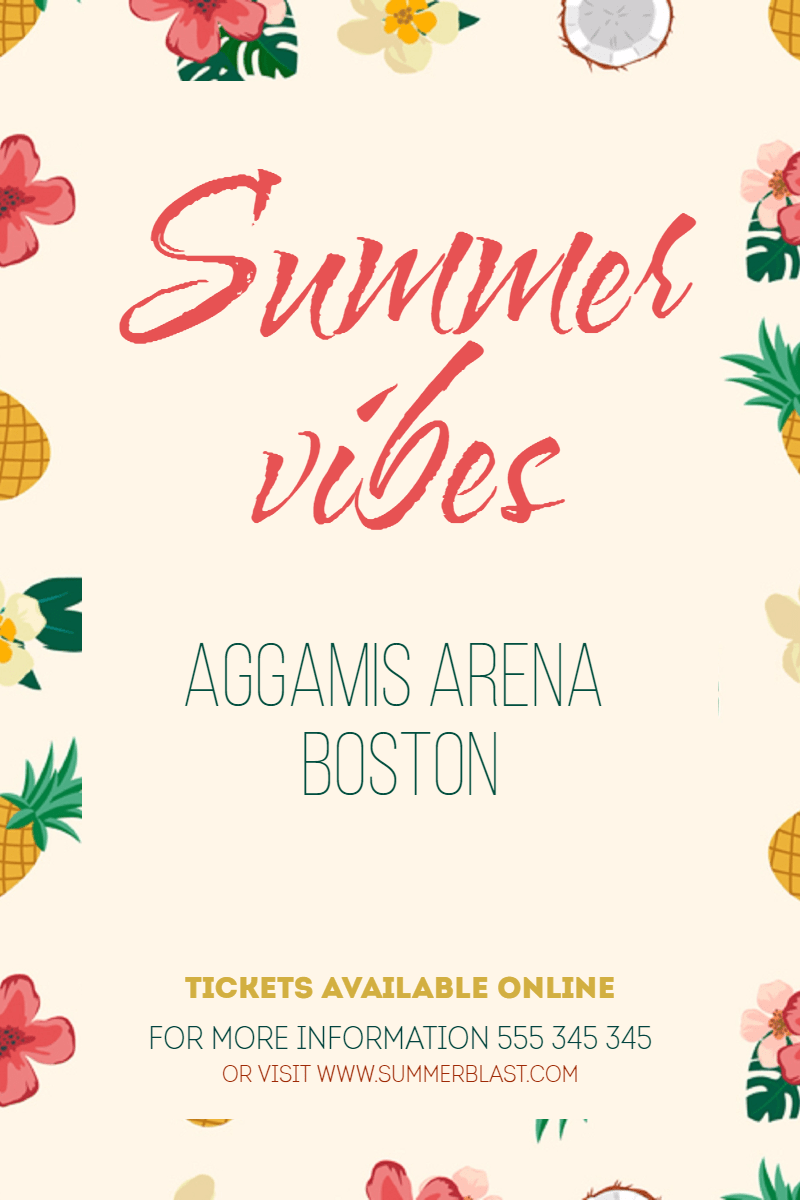 Summer vibes #invitation #event Design  Template