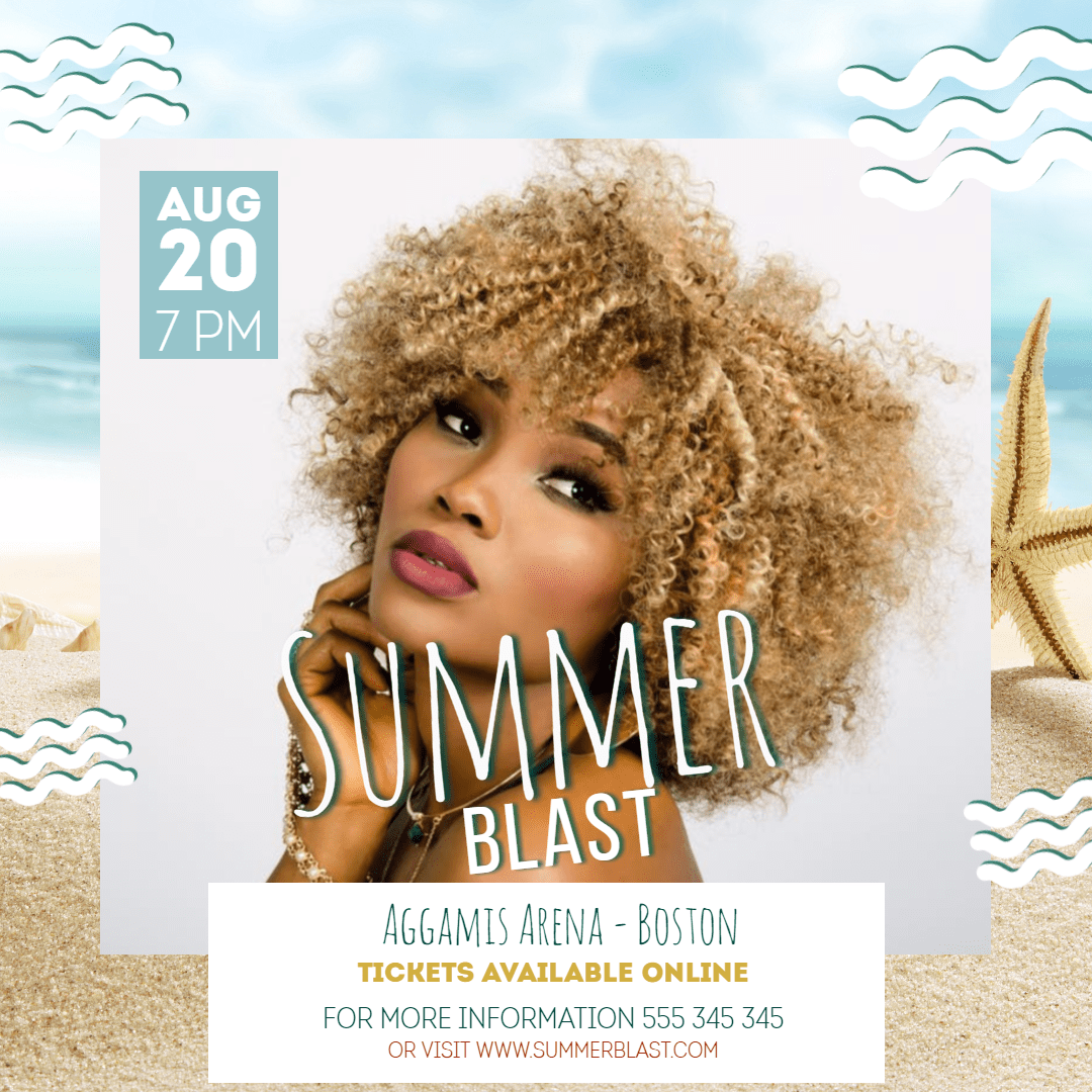 Summer blast #invitation #summer Design  Template