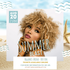 Summer blast #invitation #summer #music #poster #vacation #vibes