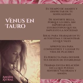 VENUS EN TAURO